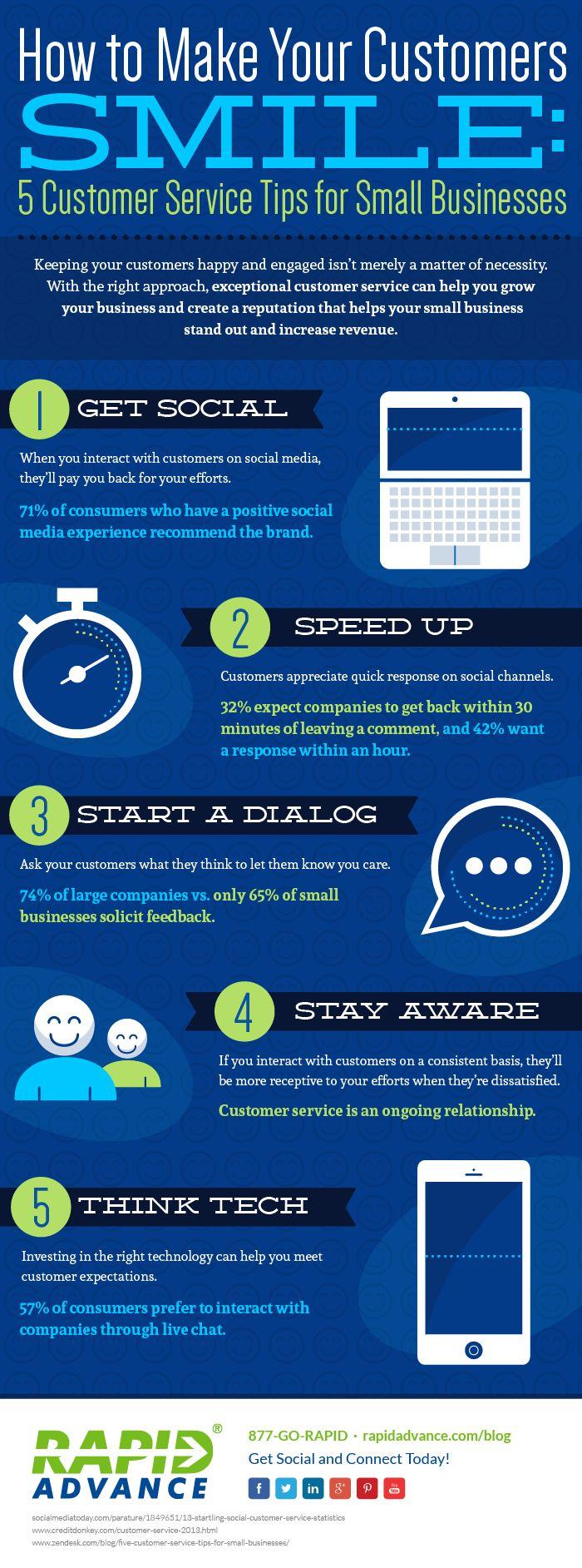customer service tips smile