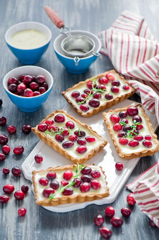 Tart - Cranberry with White Chocolate