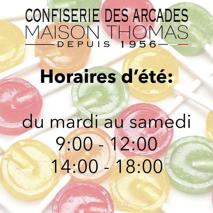 Petit changement d'horaire pour la boutique cet été : comme d'habitude le matin (9:00-midi) mais 14:00-18:00 l'après-midi !