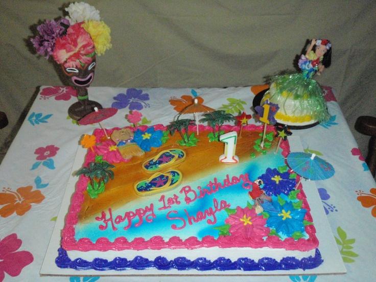 Luau Birthday Party Cake