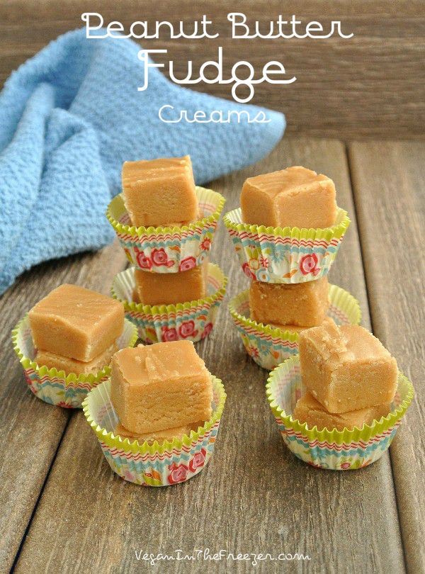 Peanut Butter Fudge Creams are so creamy that they almost melt in your mouth.