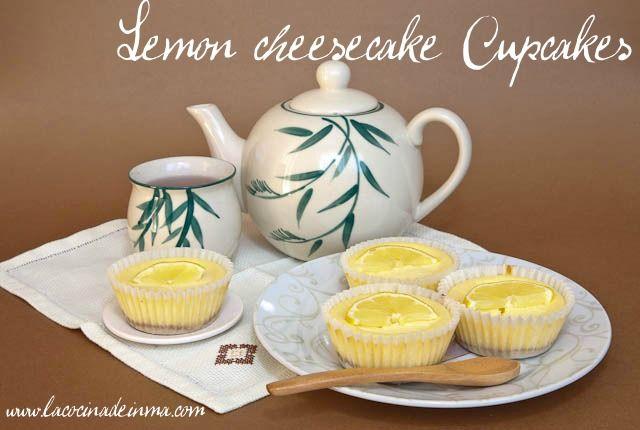 Un juego de palabras: Lemon cheesecake cupcakes...Cupcakes de Tarta de Queso de Lemon!!!!!!