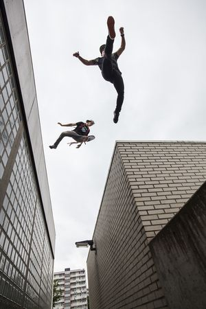 Jessie La Flair & Cory DeMeyers freerunning in The Netherlands 2014