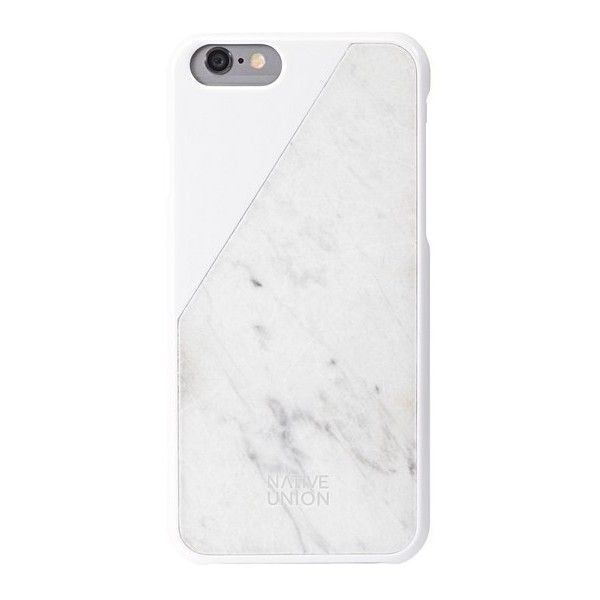 White Clic Marble iPhone 6 Case - All - Oliver Bonas (€77) ❤ liked on Polyvore featuring accessories, tech accessories and phone