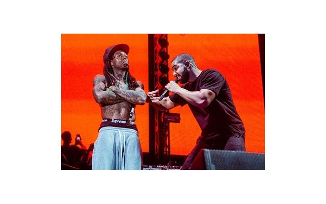Drake and Young Thug show support for Lil Wayne after he disses Cash Money on stage (Photo)