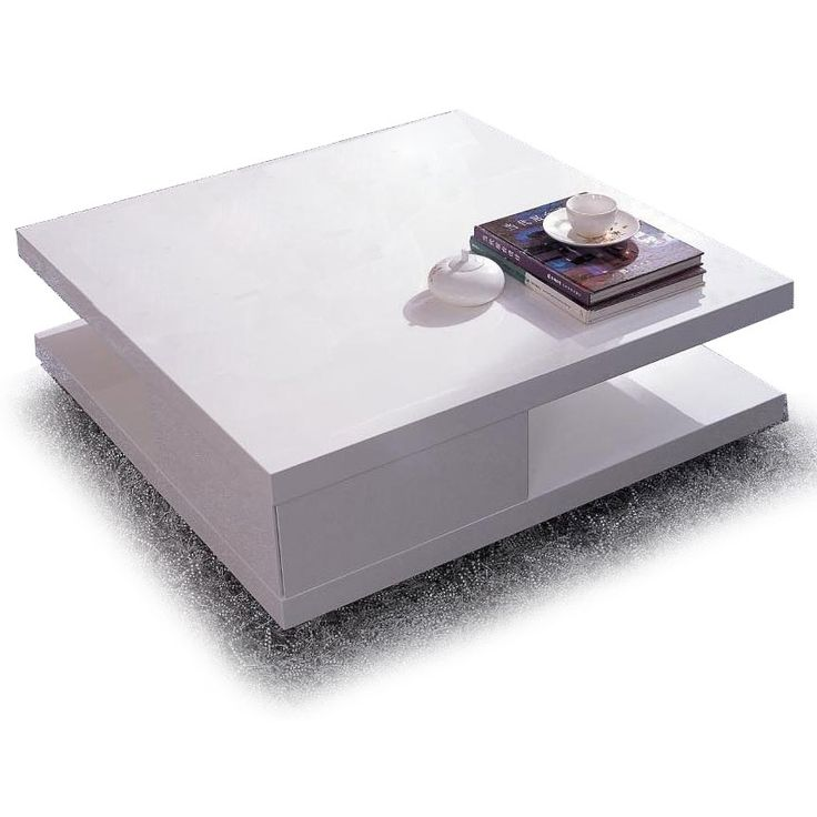 Modern White Square Coffee Table Mito