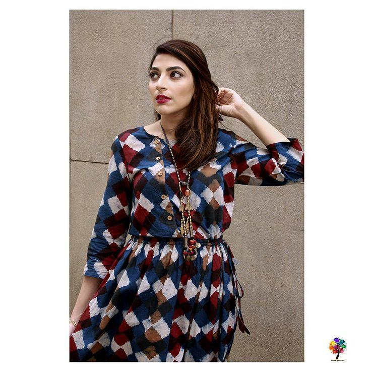 The Classic Indigo Block Print Dress www.gulaalcreations.com