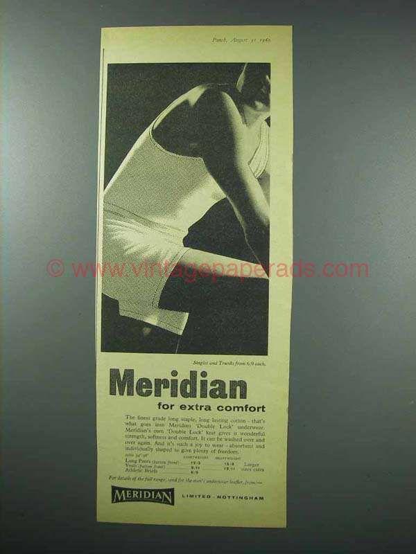 1960 Meridian Double Lock Underwear Ad - Comfort