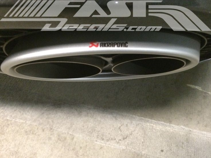 Small exhaust tip decal fastdecals