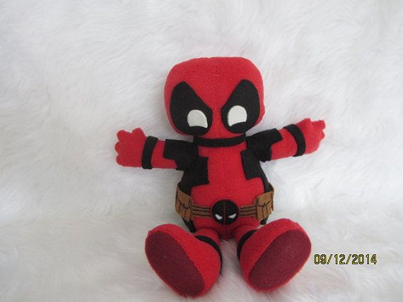 Deadpool Beanie Plush 11 by Octomama on Etsy