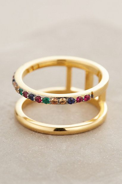 Elizabeth and James Dylan Double Ring #anthropologie