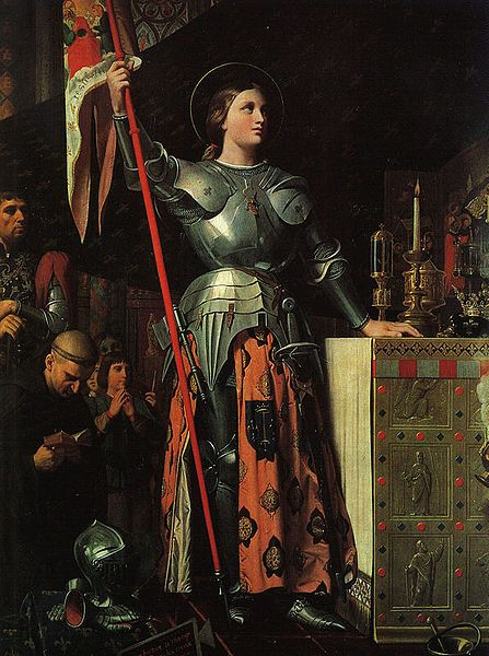 Joan of Arc by Ingres, a maiden (and later saint) who made a difference in French / English war.