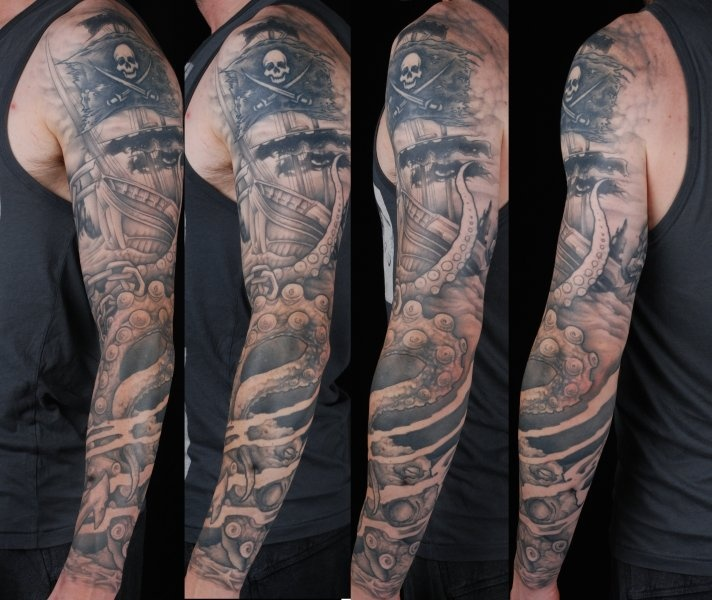 17 ideas about pirate tattoo sleeve on pinterest pirate tattoo pirate ship drawing and kraken. Black Bedroom Furniture Sets. Home Design Ideas