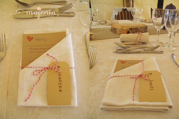 (c) Majenia Mariage idée menu. Lové love