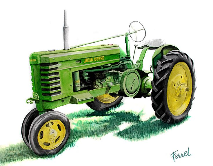 John Deere Tractor Paintings for Sale