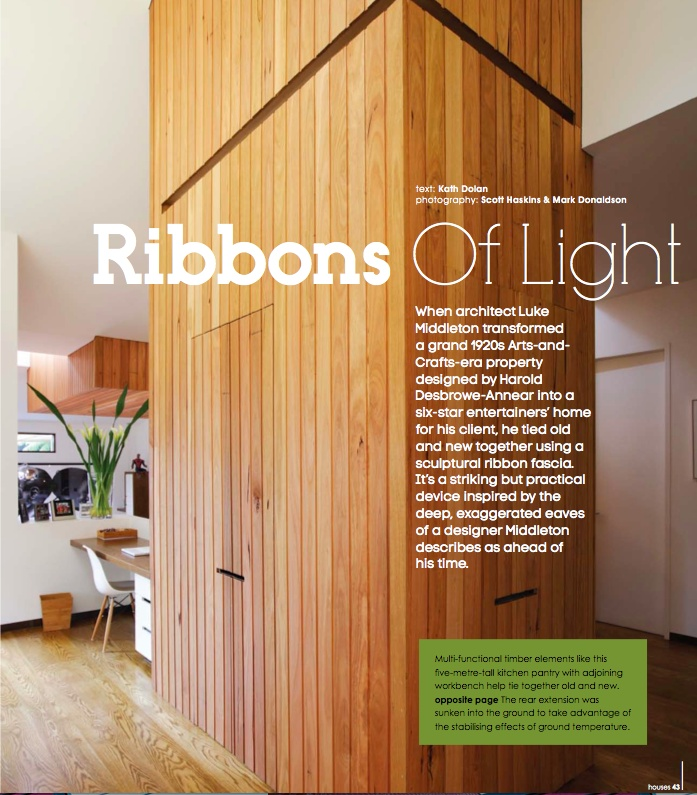 ribbons of light - photography: Scott Haskins & Mark Donaldson, architect: EME Design