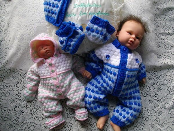 b354daa07 Knitting Pattern No.32 Preemie 0-3 Months Snow Suit