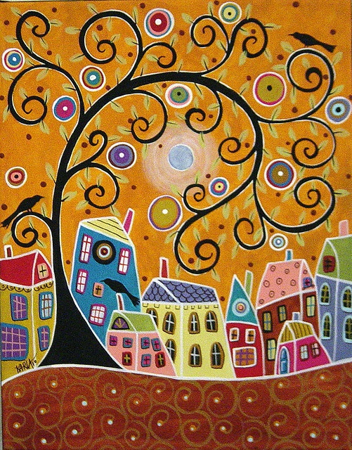 Blue Moon Landscape Painting by Karla G by karlagerard, via Flickr
