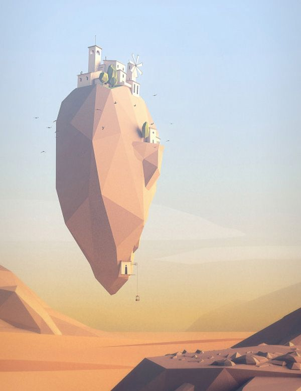 30 Extremely Creative Low Poly Illustrations – ShaCha.co.uk