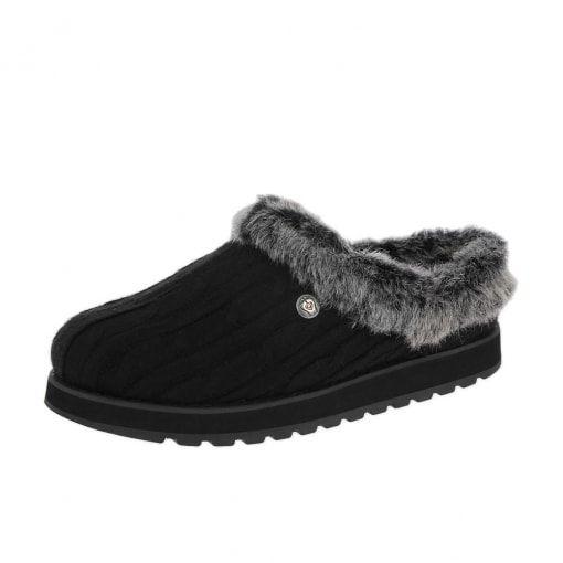 Skechers Bobs Keepsakes Ice Angel 31204 Slippers Black