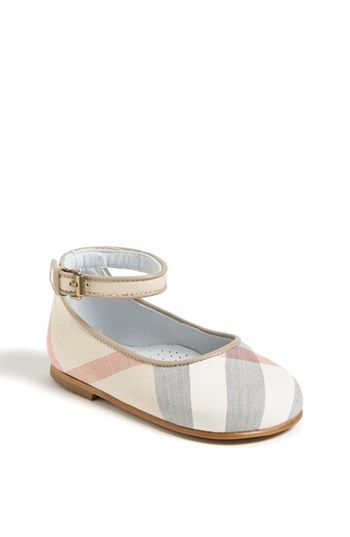 Burberry 'Sophie' Mary Jane (Baby & Walker) available at #Nordstrom