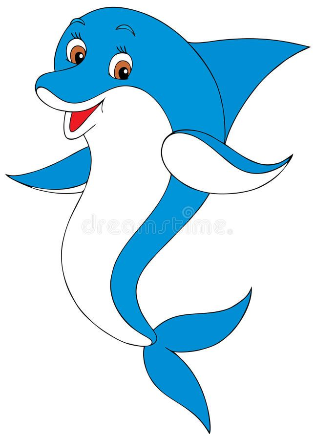 Dolphin Funny Dolphin Diving Into The Water Vector Clip Art Animal Character Sponsored Divin Funny Dolphin Vector Graphics Illustrations Dolphin Images
