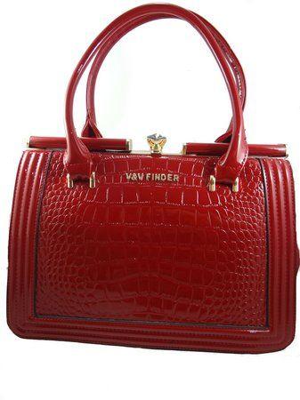 998ff91917727 Bolsa Vermelha Grande Verniz - V V finder