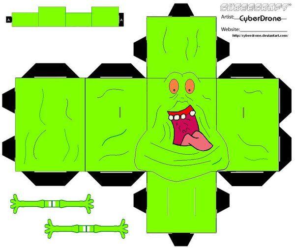 Cubee - Slimer 'Ver2' by CyberDrone.deviantart.com on @deviantART