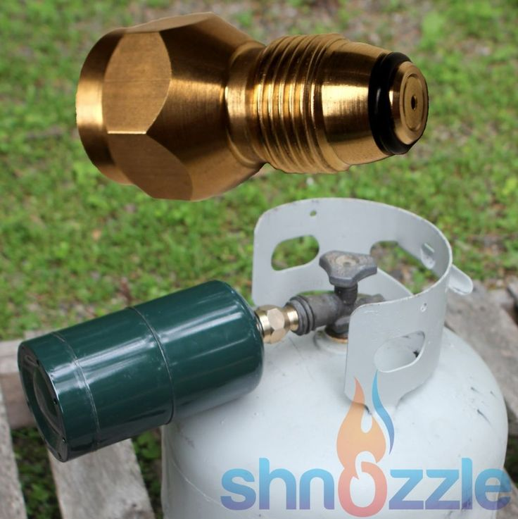 It allows you to refill small disposable propane tanks with your larger 20-50LB BBQ propane tank. This is aHEAVY DUTY 100% Solid Brass Propane adapter. To use Shnozzle to Refill 1 LB. Cylinders from 20-40 LB. | eBay!