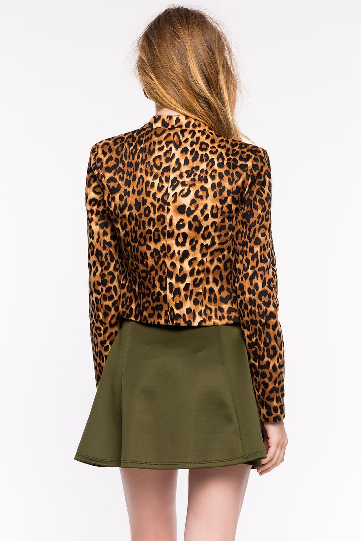 Леопардовый пиджак Размеры: S, M, L Цвет: коричневый с принтом Цена: 2346 руб.  #одежда #женщинам #пиджаки #коопт