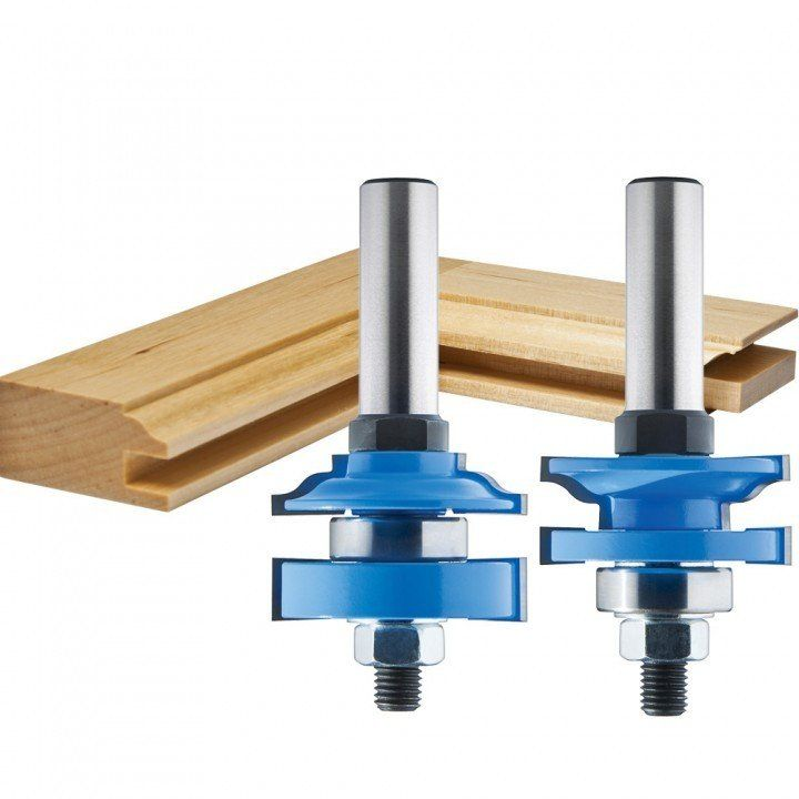"Rockler 2-Pc. Ogee Stile and Rail Router Bit Set - 1-5/8"" Dia x 1"" H x 1/2"" Shank"