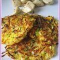 Galettes aux courgettes, pommes de terre et carottes