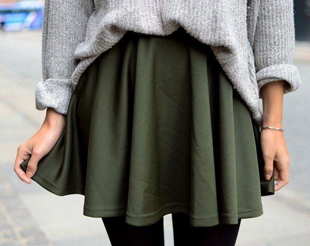 Green Skirt by Romwe