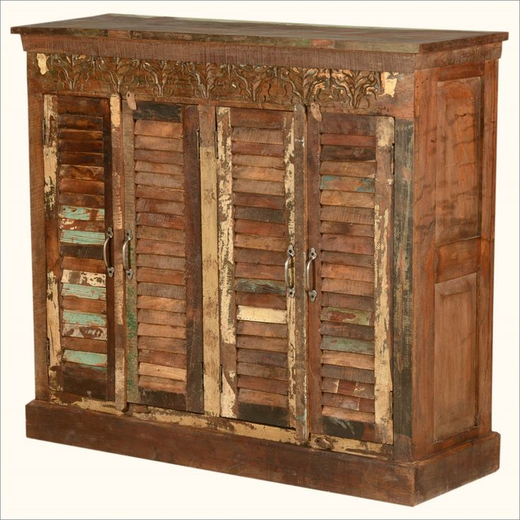 Reclaimed Solid Wood Sideboard Storage Bench: 60 Best Old Door Buffets Images On Pinterest