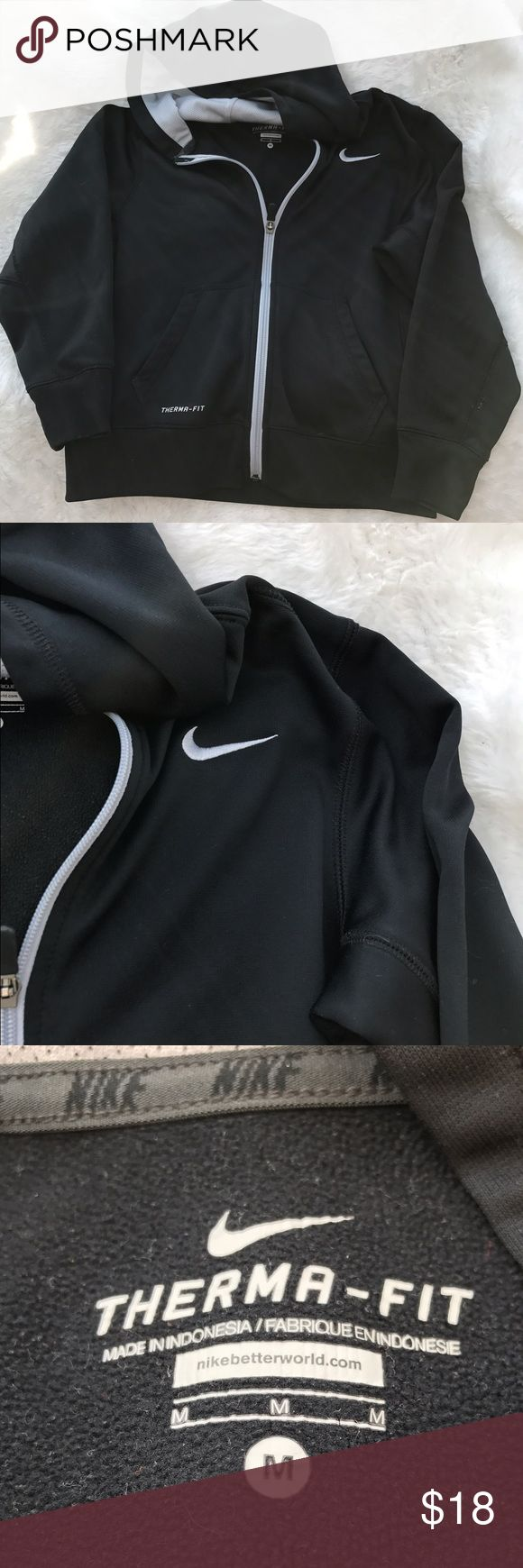 Boys Nike Therma Fit Black Zip Up Hoodie Medium Nike boys ship Up Hoodie sweatshirt. Medium. Lightly worn. Therma fit technology. No noted defects. 🚫No trades ✅Reasonable offers submitted though offer button accepted. 🚭Smoke free home💌Laundered before shipped Nike Shirts & Tops Sweatshirts & Hoodies