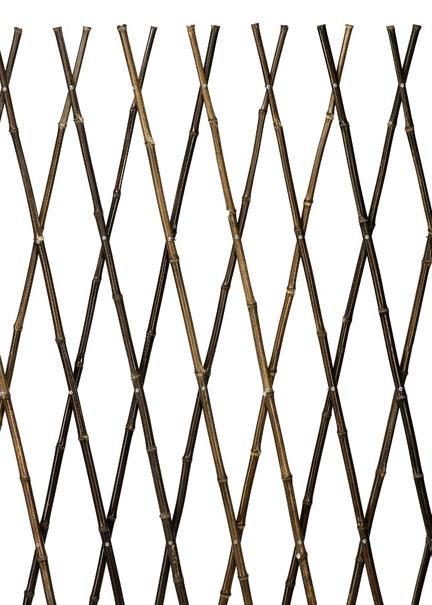4ft x 6ft Black Bamboo Expanding Trellis
