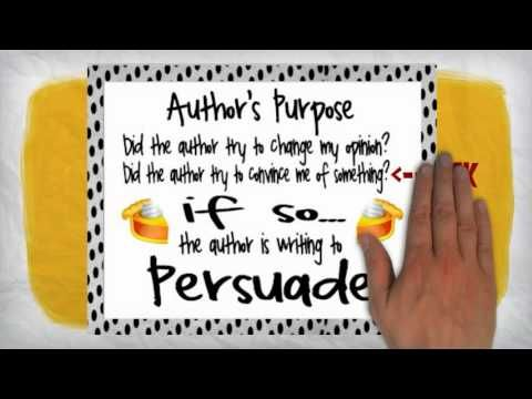 Author's Purpose - YouTube and also great becuase these posters are free on Teachers Pay Teachers!