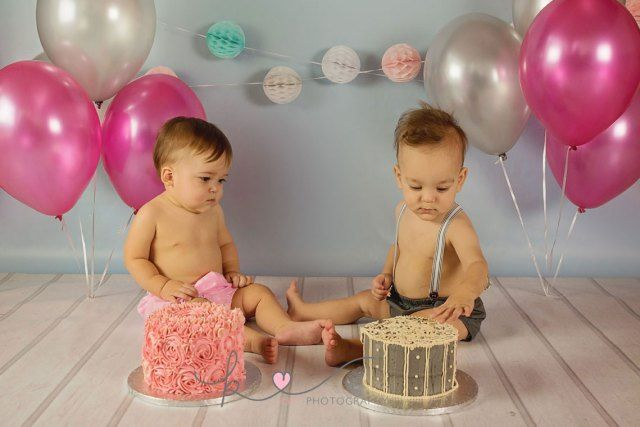 Twin Cake Smash by Kist Photography