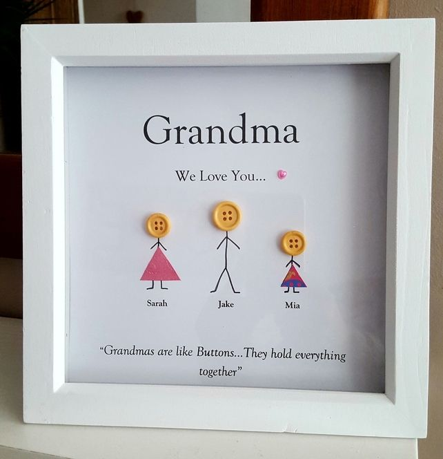 Personalised Wooden Box Frame for Birthday's Grandma Gran Nan Mum Aunty £9.99