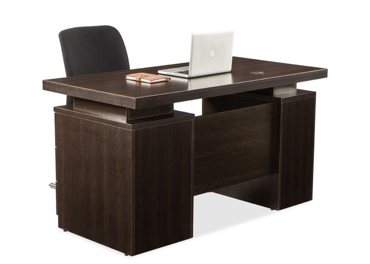 DWS/34757 Managerial Office Desk from Durian has the Wenge desk boasts of a platform top supported by a central pillar that runs the length of the table.