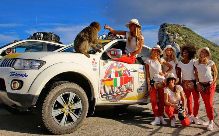 Il team sulla Rocca di Gibilterra