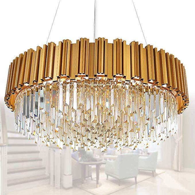 Meelighting Raindrop Gold Modern Crystal Chandelier Lights Luxury