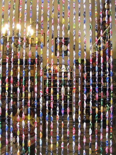 Bottle Cap Curtain! by XianRex, via Flickr