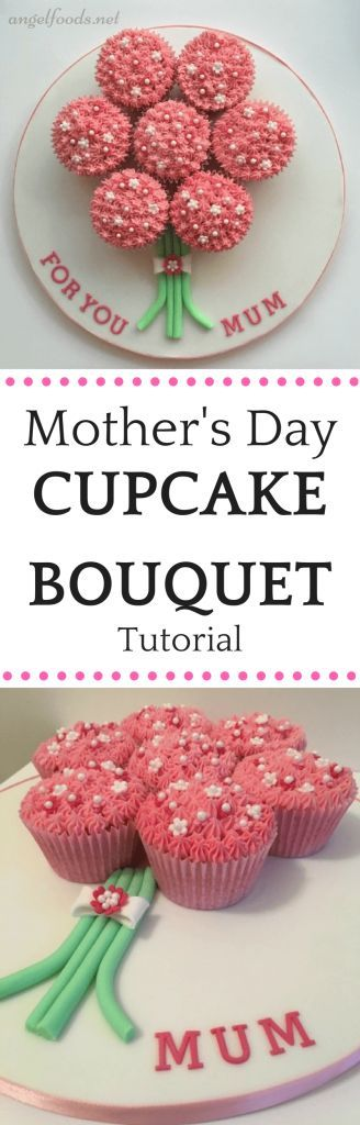 Cupcake Bouquet Tutorial   In this easy step-by-step tutorial on how to make and decorate a cupcake bouquet, which is perfect for mothers day cake.