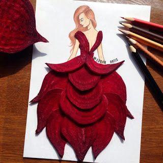 zhannadesignfromart: свекольное платье