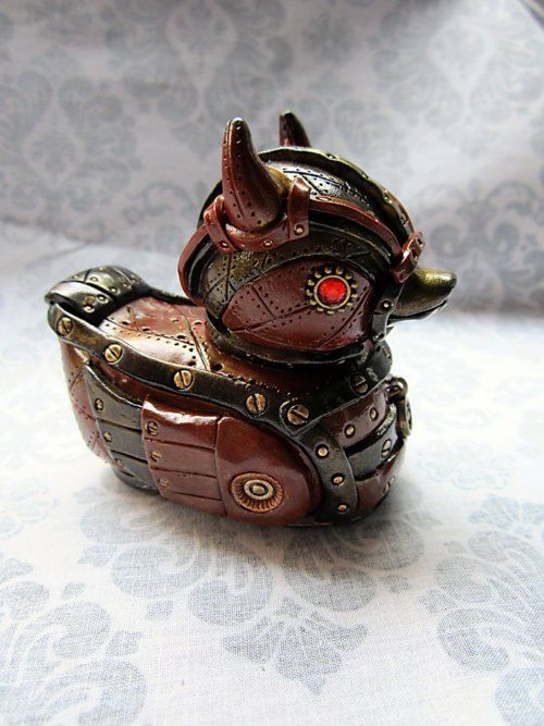 Steampunk rubber ducky you're the one. You make bath time lots of fun...with all the shocks.
