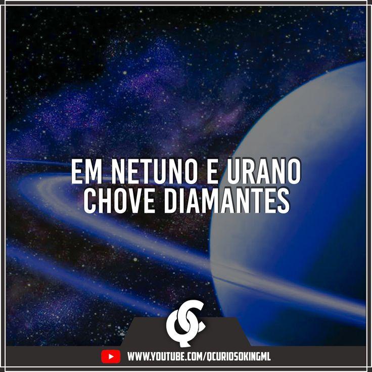 Em Netuno e Urano chove diamantes!! Como seria se chovesse diamantes aqui na Terra!!