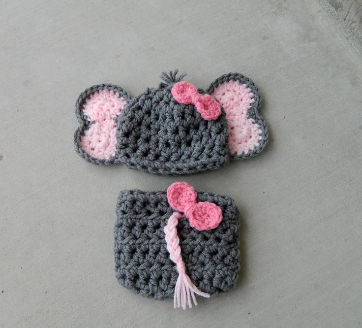 Handmade crochet Elephant Hat Elephant outfit by LittleBirdBands, $38.75