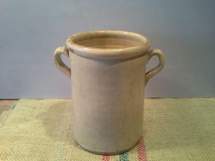 Antique-Italian-glazed-Terracotta-pot-XIX-century di DemijohnItalian su Etsy