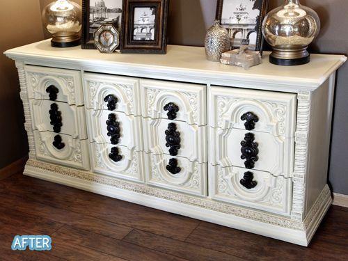 Repainting an old dresser....nice. Better After: Chunka Chunka Burnin' Love